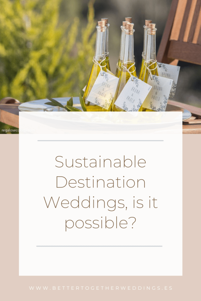 Sustainable destination wedding in Spain