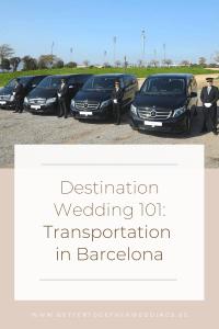 Transportation in Barcelona, Wedding transport Barcelona, Destination wedding transport